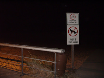 So does this mean? - No dogs and pets year round is prohibited by bikes?