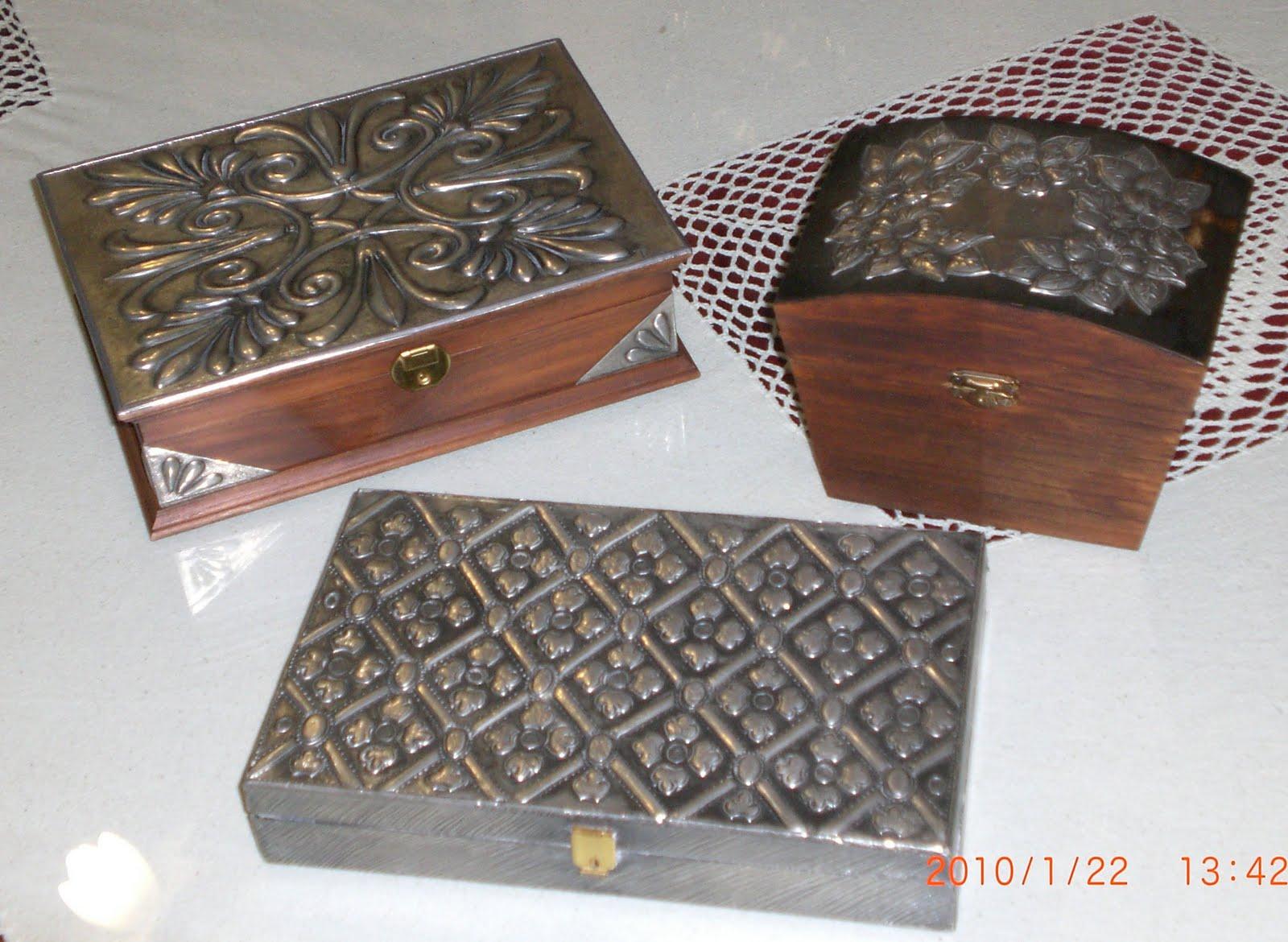 El rinc n de las manualidades de tere cajas decoradas en for Manualidades con estano