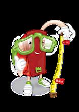 A mascote da Leitura ao Centímetro