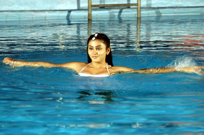 hot mallu masala actress namitha latest pics in swiming pool,hot show of her breast
