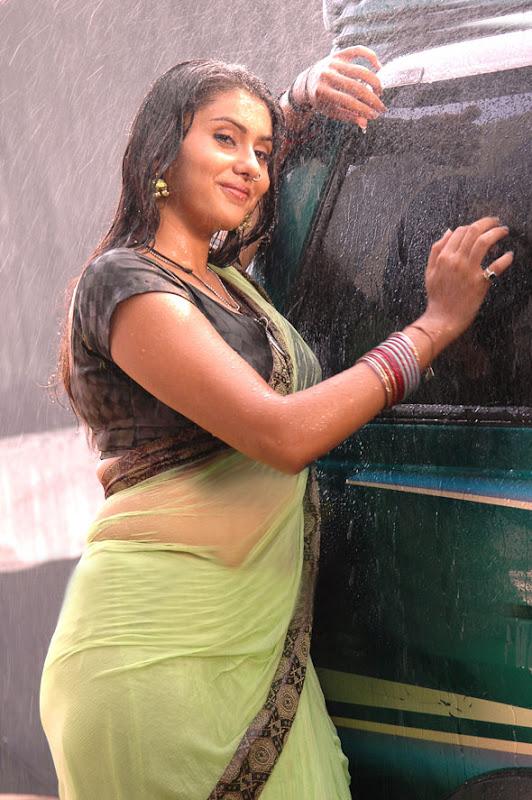 hot mallu masala namitha hot in wet saree exposing her hot belly