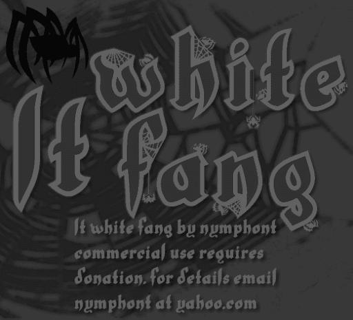 NEW! LT White Fang Font