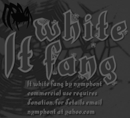 LT White Fang Font