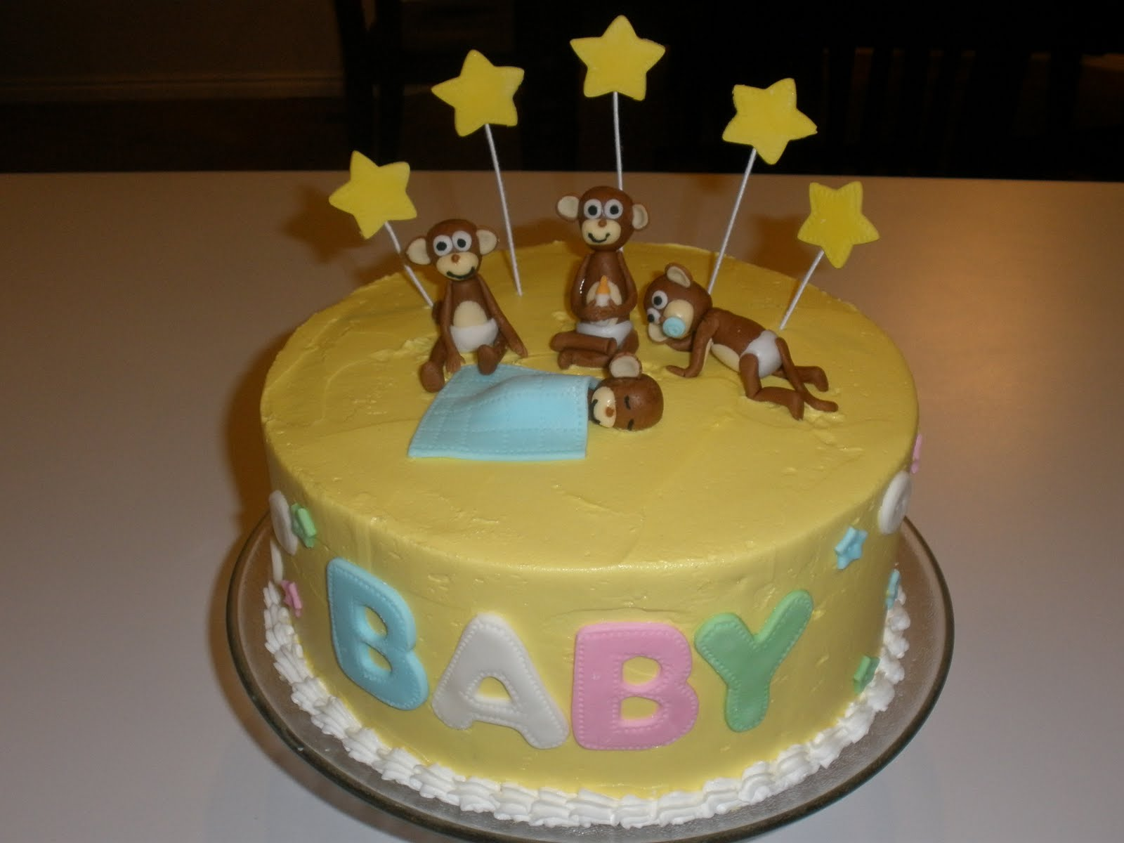 It s a piece of cake Monkey Baby Shower Cake