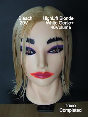 Bleach Blonde Hair With Black Highlights. Bleach VERSUS High lift and