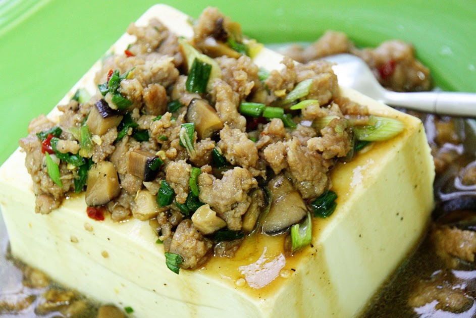sugarlens: Steamed Tofu with Ground Pork