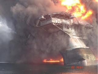 explosão da plataforma petrolífera no Golfo do México