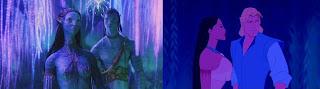 Avatar x Pocahontas - ela lhe mostra o ambiente