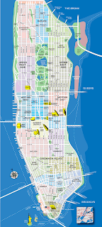 mapa de Manhattan - Nova York