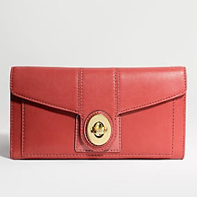 Coach 43454 NWT Peyton Leather Checkbook Wallet NWT