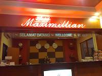 Hotel Maximillian reception area. Tanjung Balai Karimun