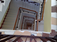 7 floors of stairways in Hotel Maxi Balai
