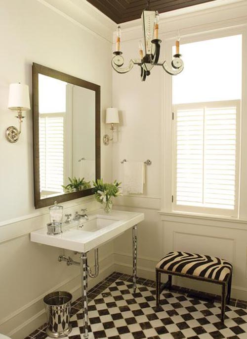 very classic and timeless bathroom with updated touches