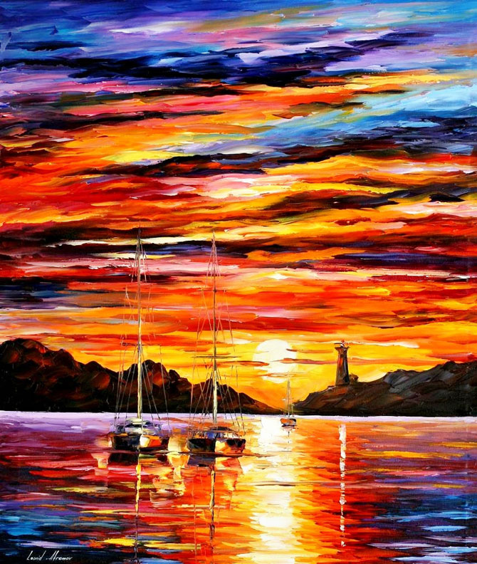 Amazing facts leonid afremov oil paintings for Cool paintings for sale