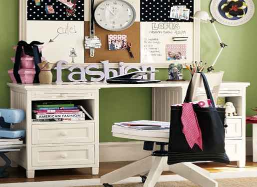 Study Table For Children In The Bedroom - HOME DESIGN | INTERIOR ...