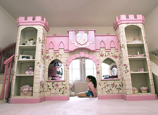 Girls Castle Bunk Bed