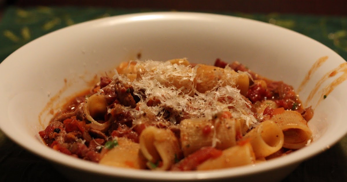 Pinot and Prose: Gorgeous Slow-Cooked Duck Pasta