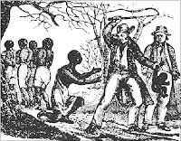 woodcut of slaves being whipped
