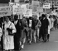 Civil rights march in Seattle