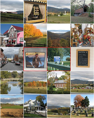 Montage of photos from the Shenandoah Valley in Virginia