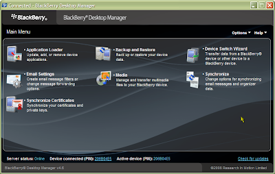 BlackBerry Desktop Manager version 4.6