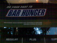 Snickers 'BAR HUNGER' sign