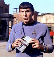 Mr Spock with a tricorder