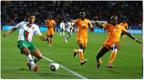 coupe du monde portugal 0 c te d 39 ivoire 0 match foot mondial en direct. Black Bedroom Furniture Sets. Home Design Ideas