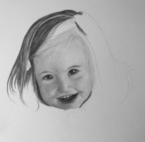 child portrait charcoal drawing step 2
