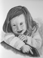 child portrait charcoal drawing step 5