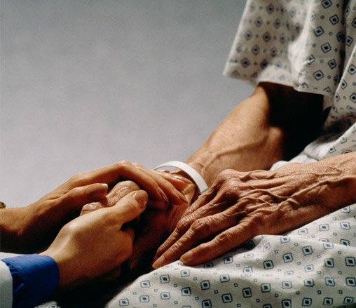 visit a sick person in a hospital The custom of visiting church members in the hospital is derived from the principle of visiting and encouraging the sick or helping people during times of distress.