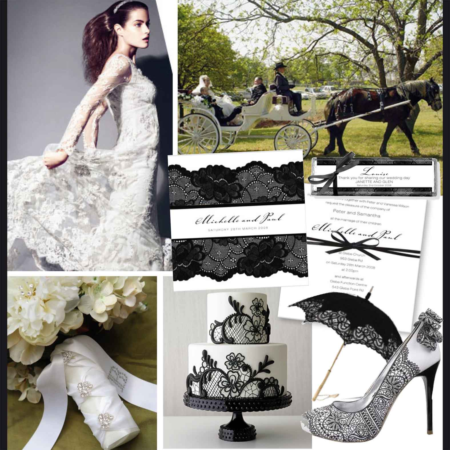 Black And White Wedding Reception Ideas