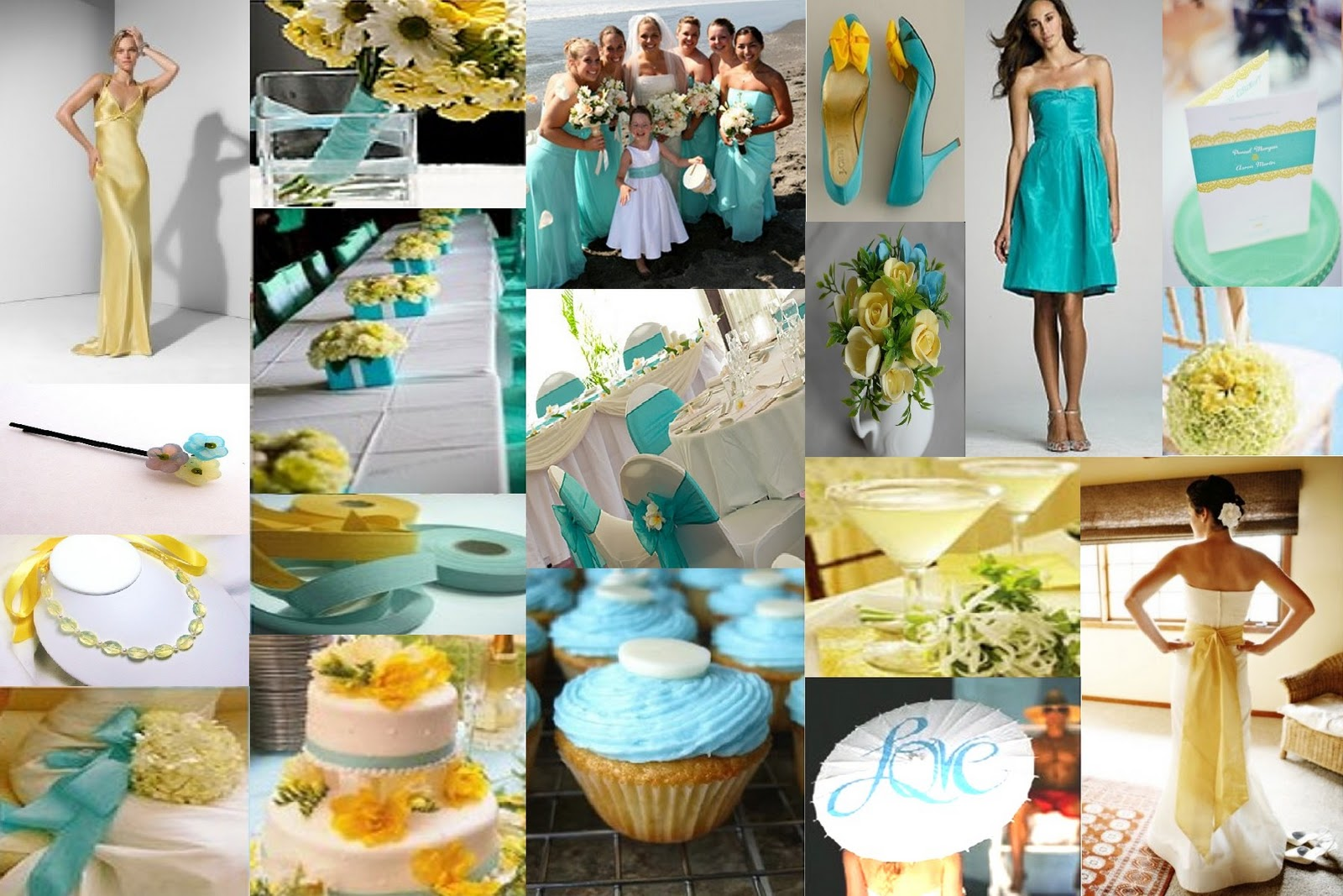 Your wedding support get the look teal lemon themed for Teal wedding theme ideas
