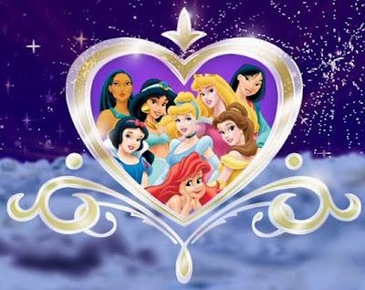 Ariel, Bella, Aurora, Blancanieves, Cenicienta, Yasmin, Mulan, Pocahontas