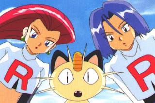 Jesse, James y Meowth malvados