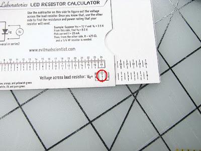 Calculo de resistencias para LEDs