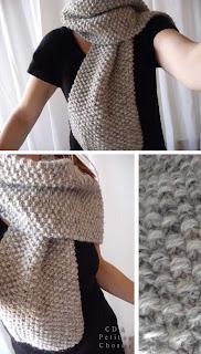 comment tricoter une écharpe