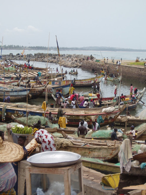 Fishing boats in Elmina