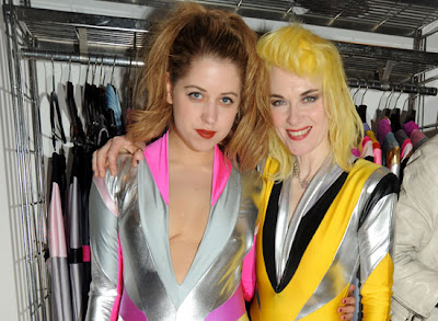 designer pam hogg and peaches