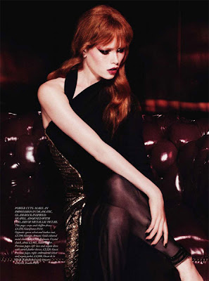 harpers bazaar velvet goldmine with model julia hafstrom