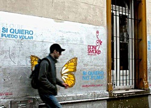 Murales que ayudan a dejar el cigarrillo