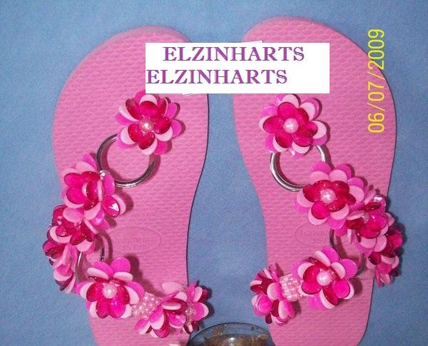 Extremamente ELZINHARTS : sandalias havaianas decoradas IZ25