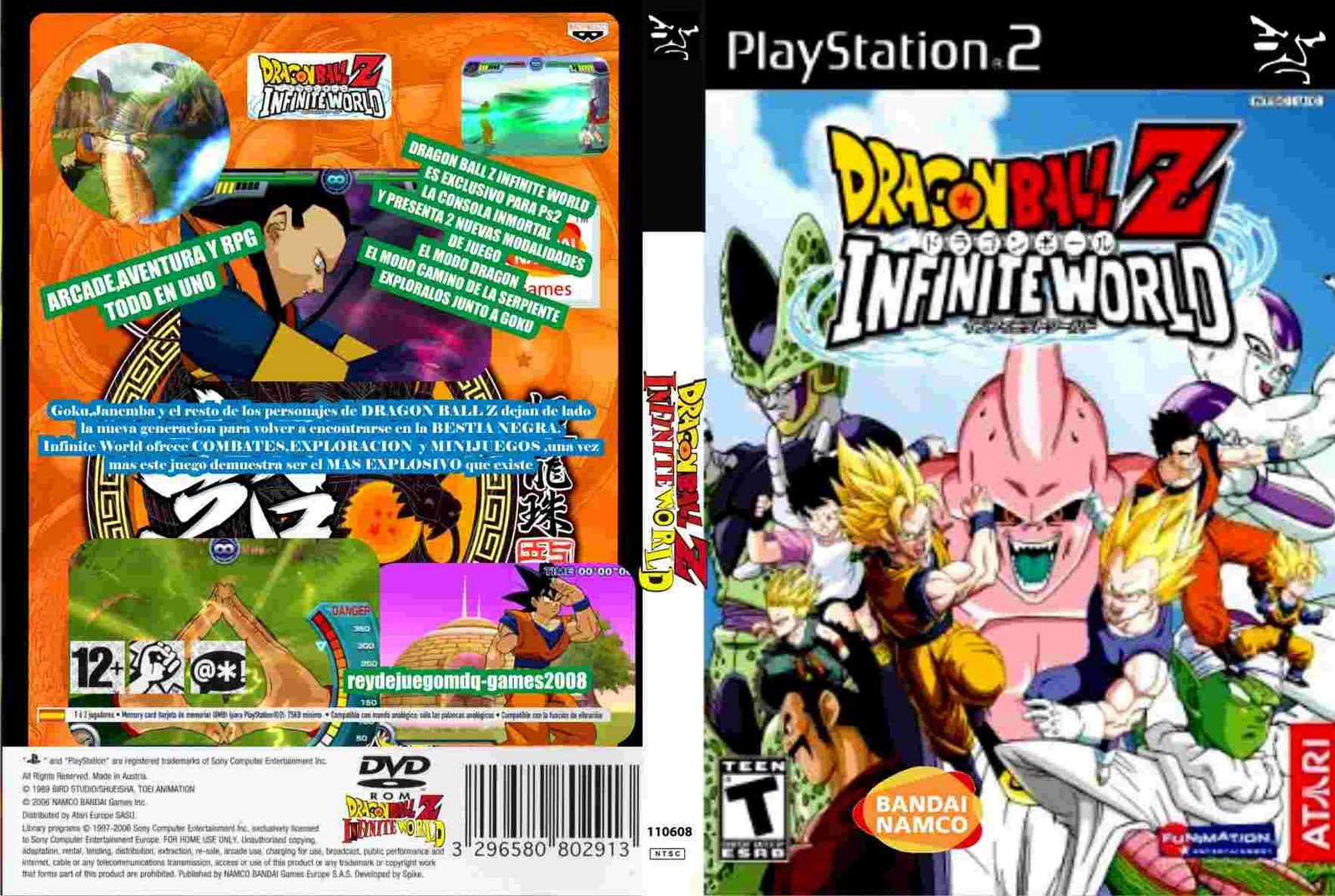 PS2 - dragon ball z infinite world [NTSC\U]