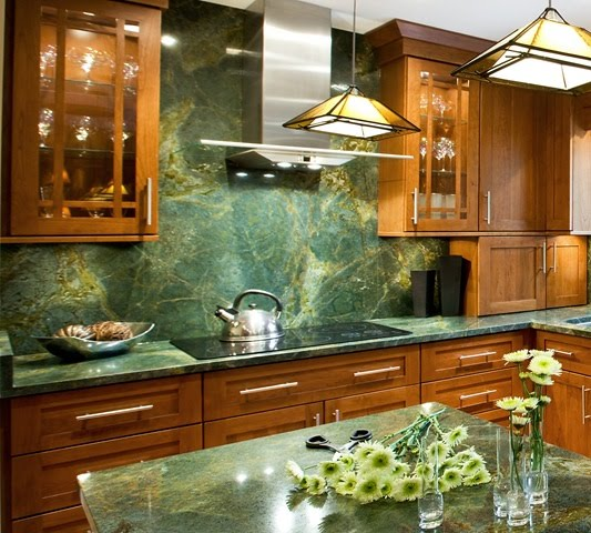 Green Kitchen Backsplash: Whitehaven: The Kitchen Backsplash
