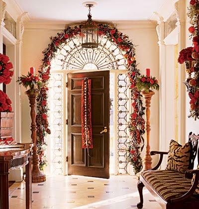 christmas%2Bfestive entrance%2Bhall Sugestões para decoração natalina no Hall de entrada ou corredor.