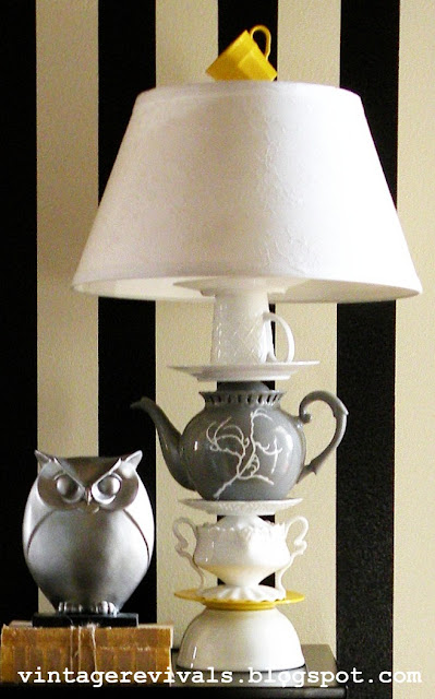 Anthropologie Teapot Lamp • Vintage Revivals