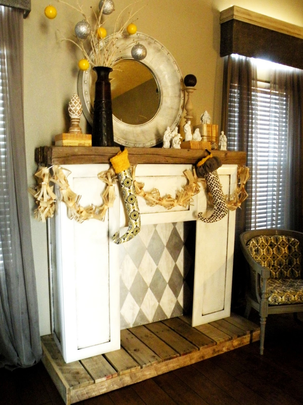diy faux fireplace • vintage revivals