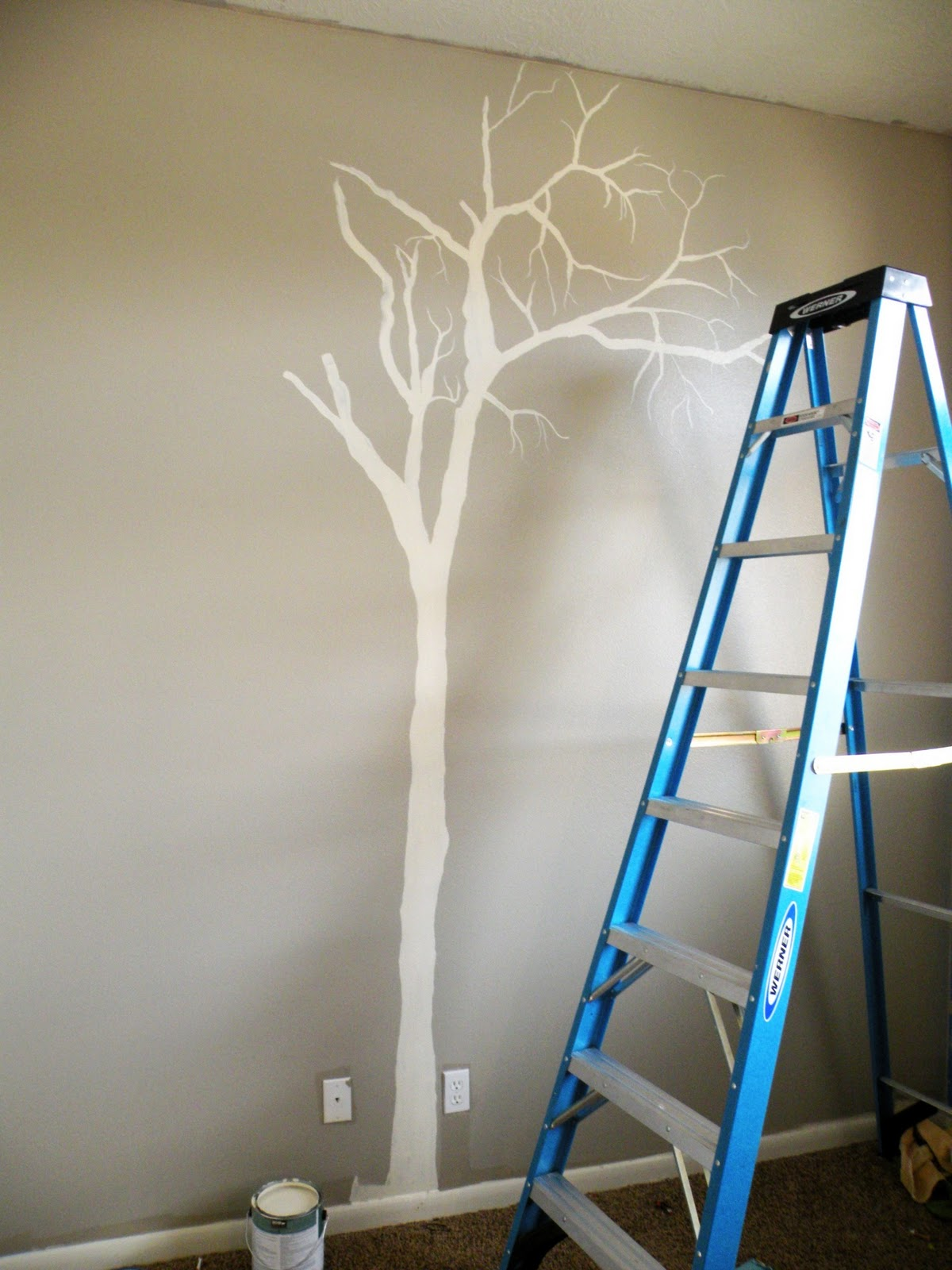 How to paint a tree on your wall - Vintage Revivals