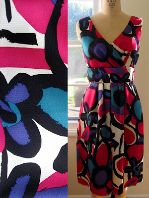 is a divine explosion of fuchsia violet turquoise white and black