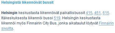 Finavian bussitietoja